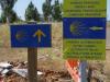 Wij gaan voor de Camino Francés, meer lawaai maar minder stappen