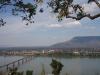 Uitzicht op de Golden Bridge, over de Mekong River