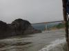 Na 2 uur varen we onder de eerste brug over de Mekong River door
