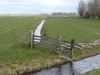 De wandeling door de weidse polder is een tikkeltje saai