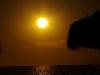 Zonsondergang bij het Beach Hotel