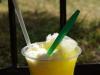 Een populair drankje, geschaafd ijs met siroop en vanille
