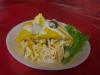Zoete aardappel, kip, mais en mayonaise