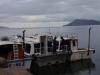 De boot zet ons af bij de 1e haven van Isla Taquille