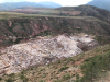 De zoutwinningsvelden, 10 km buiten Maras