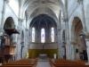 De kerk van Captieux, sober van binnen