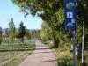 Een mooie route door de stad, tot de aan de rand van Pamplona gelegen Universiteit van Navarra