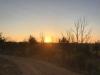 Villares de Órbigo, de zon komt op