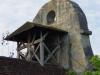 De kerk van Monfaucon, bijzonder om zijn klokken die buiten hangen