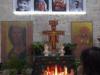 In de kerk is een klein altaar ingericht voor peregrino's; ook wij steken een kaarsje op voor alle dierbaren om ons heen, voor liefde, hoop, gezondheid en geluk