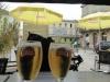 Het eerste het beste terras vallen we neer voor een heerlijke heldere Stella Artois