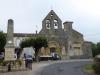 De kerk van Savignac, het eerste dorpje dat we vandaag passeren
