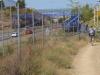 De brug voor fietsers en wandelaars is afgesloten