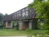 Een oude spoorbrug over de l'Adour