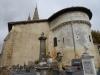 De kerk van Audignon, geopend van 8 tot 18, maar ... gesloten