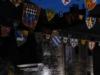Bij het kasteel van Ponferrada blijken ineens vlaggetjes te hangen