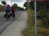 De laatste 2,1 km vandaag zijn langs de weg