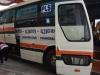 Bussen pendelen heen en weer tussen Laos en Thailand