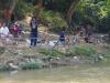 Er wordt veel gevist in de Ping River
