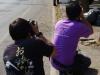 Foto's worden geschoten tijdens de pre-wedding
