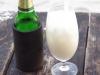 We genieten van een biertje en een Pina Colada, terwijl de zon ondergaat