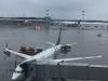 Om 4 uur plaatselijke tijd landen we keurig op tijd in Moskou; ons vliegtuig naar Amsterdam staat er al