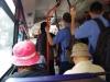 Met de bus rijden we voor ca. € 0,20 naar het Chinatown van Saigon, Cholon