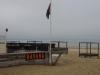 De strandtenten zijn gesloten, dat betekent geen koffie
