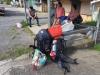 Bushalte in Bijagua, kwart voor 9