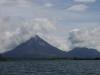 De vulkaan Arenal komt steeds dichterbij