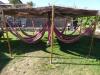 Hangmatten in de tuin, waar het heerlijk vertoeven is