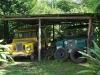 Het wagenpark van de Finca Verde Lodge