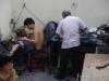 In het atelier wordt hard gewerkt