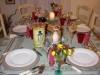 Feestelijk gedekte eettafel