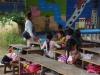 Naast Wat Phnom EK staat een schooltje
