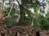 Brug over de drooggevallen Siem Raep River