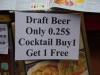 Bier is goedkoper dan water