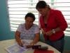De eigenaresse van de hospedaje en buurvrouw (de tolk)