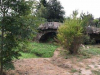 Een Romeinse brug over een droogstaand beekje
