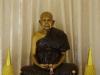 Ergens, in een volgende Wat, zien we deze fraai getekende Boeddha