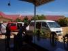 In Stoeng Treng worden we met bagage en al de bus uitgebonjourd