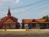 De grensovergang Cambodja/Laos