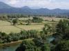 Droge rijstvelden langs de Nam Song River