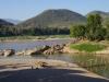 Nam Khan River mondt uit in de Mekong River