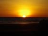 Ondergaande zon, Playa Las Lajas