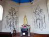De kapel in Well heeft schitterende muurschilderingen