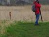 Op de paden staan met grote kijkers gewapende vogelaars soorten te scoren