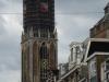 De Utrechtse Dom is vandaag ook in het oranje gestoken