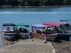 We nemen een watertaxi van het vasteland naar Isla Boca Brava