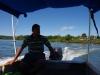 Voor $ 3,-- p.p. varen we van het vasteland naar Isla Boca Brava